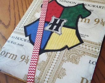 Hogwarts House colors notebook cover