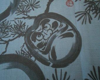 Daruma. Japanese cotton fabric.Japanese fabric. Fabric by  Half Meter or Half yard.