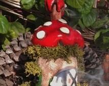 Mushroom Amanita Muscaria for clay incense burner