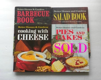 Vintage Cookbook Collection, Better Homes and Gardens Cookbooks, Barbecue Book, Cooking With Cheese Book, Salad Book