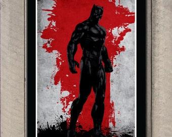 Vintage Avengers Movie Poster - Black panther