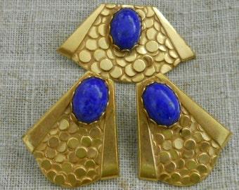 Vintage Miriam Haskell brooch & earrings set
