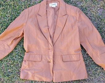 Vintage 100% leather blazer