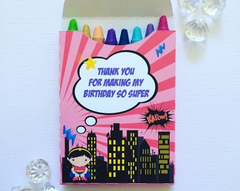 Superhero crayon boxes