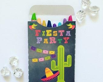 Mexican fiesta crayon boxes