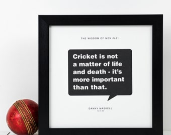 Personalised Cricket Print; Cricket Gift; Cricket Wall Art; Husband Gift; Boyfriend Gift; Gift For Dad; Cricket Lovers Gift; PAP103