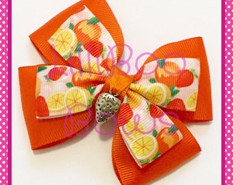 Handmade Summer Fruits Hair Bow