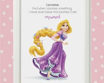 Disney Princess - RAPUNZEL - Art Print