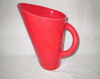 Vintage Italian made Extra Large Casa Mia Red Water Iced Tea Pitcher