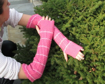 Cashmere / Merino wool fingerless gloves -  Typing Gloves - arm warmers