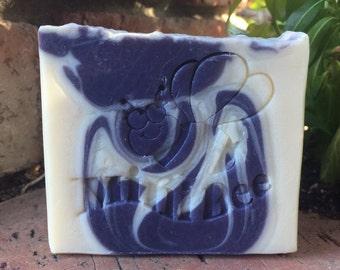 MOROCCAN FIG Cocoa Butter Soap, Handmade Soap, Cold Process Soap, Moisturizing