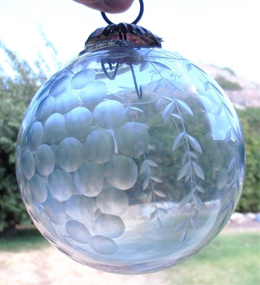 clear etched christmas ornaments