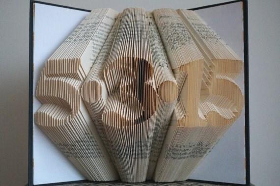 Book Art Wedding Gift : Folded Book ArtAnniversary Gift1st Wedding Anniversary -Gift for ...