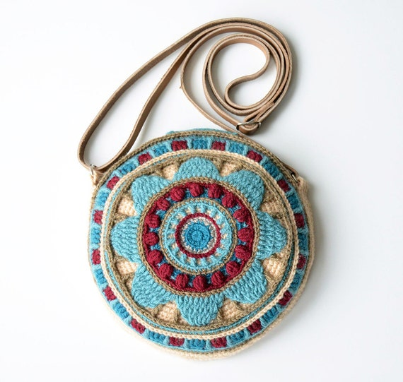 Round Bag crochet pattern - overlay and tapestry crochet mandala purse ...