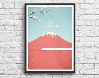 Art-Poster 50 x 70 cm - Japan Travel Poster