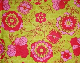 Lot of 3 Pieces Pink & Green Floral Design Cotton Fabric - Brother Sister Design Studio