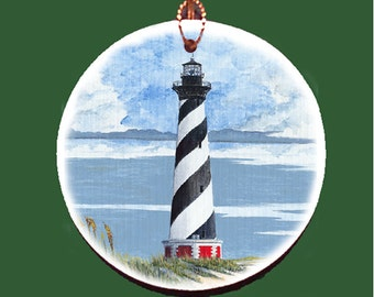Cape Hatteras Lighthouse Holiday Ornament