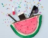 Watermelon Purse Zip Pouch Clutch Bag