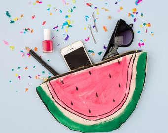 Watermelon Purse Zip Pouch Clutch Bag