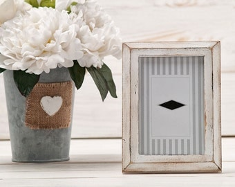 Wedding Frame Rustic Picture Frame White Shabby Chic Wedding Table Numbers Vintage Photo Frame  Rustic Home Decor Wall Art