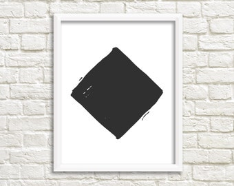 Modern Geometric art print Black and White Printable Modern Print B&W Modern Prints  Printable Art  Instant Download Printable Decor