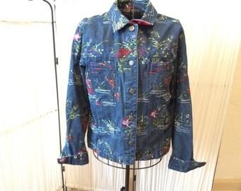 Vintage Embrodiered Jean Jacket
