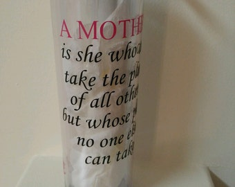 Mother, tumbler, personalize, custom