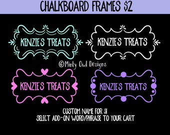 SVG Cut File - Chalboard Frames - Container Decals - Labels - Container Frame - Cutting Files - Cricut - Silhouette