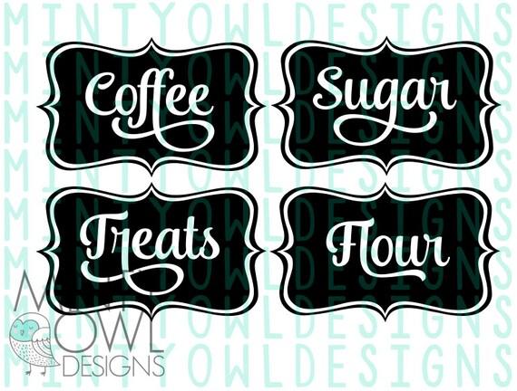 Svg Cut File Jar Canister Coffee Sugar Flour Treats