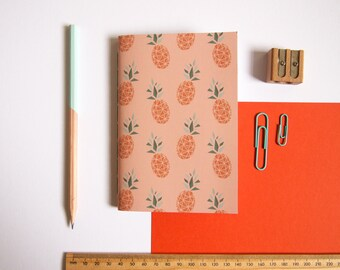 A6 Notebook / Pineapple Notebook / Tropical Stationery / Pocket Notebook / Cute Stationery / Small Notebook / Gifts for Her