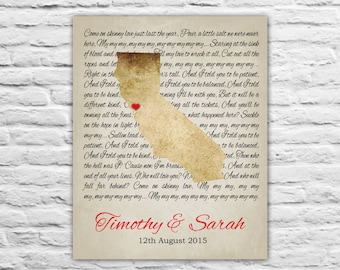 First Anniversary, Paper, 1 Year Anniversary Gift for Him, Custom Present, Anniversary Gift for Her, Personalized Engagement Gift for Fiance