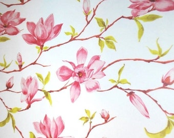 "Magnolia Flower Tissue Paper  #305 ....10 large sheets - 20"" x 30"" - Floral , garden, Pink"