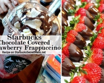 StarbucksSecretMenu-Chocolate-Strawberry-Frappe--Organic-handmade-soap-LE Raw Cocoa Butter Wild Mountain honey and Pure fruit bases