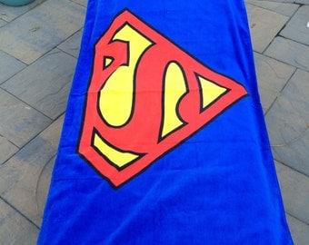 SUPER Hero  Beach Towel Personalized