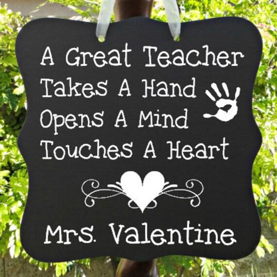 Teacher Appreciation Sign, Personalized Gift, Preschool, Elementary