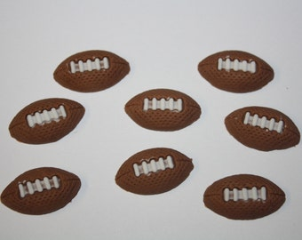Fondant Football Cakepop toppers Edible Football