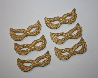 Fondant Masquerade Mask Fondant Cupcake Topper - 1 dozen ANY COLOR