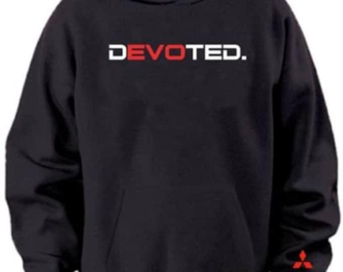 dEVOted Black Hoodie Sweater Mitsubishi EVO
