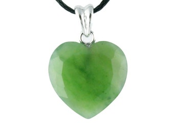 Pendant, Faceted Heart