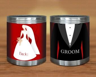 groomsman koozie etsy. Black Bedroom Furniture Sets. Home Design Ideas