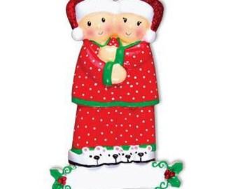 Christmas Pajamas Family Personalized Christmas Ornament