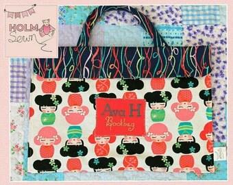 Handmade personalised bookbag
