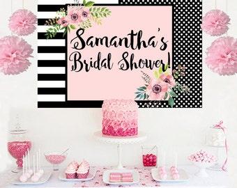Bridal Shower Personalized Backdrop -Wedding Shower Cake Table Backdrop- Wedding Backdrop - Birthday Backdrop- Baby Shower Backdrop