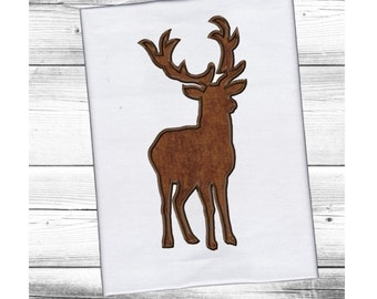 Stag/Buck/Deer  Applique Machine Embroidery DESIGN NO. 181