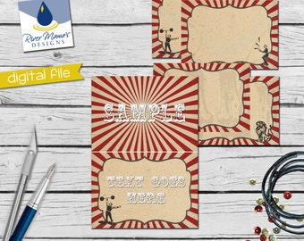 Printable Circus Food Tent / Digital Carnival Place Cards