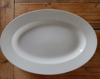 Arabia of Finland White Platter Serving Oval Plate