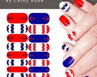 Anchorage Nautical Nail Art Studi Nail Wraps
