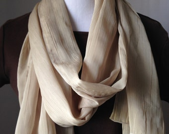 Tan Scarf, Tan Shawl, Scarf, Shawl, Evening Shawl , Neutral Shawl, Beige Scarf, Gift for Her, Wrap, Gift ,Spring, Fall, Winter,FREE SHIPPING