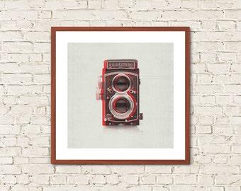 VINTAGE CAMERA, Minimalist Wall Art, Vintage Camera Print, Minimalist Poster, Minimalist Poster, Leica Logo Print, Rolleiflex Camera