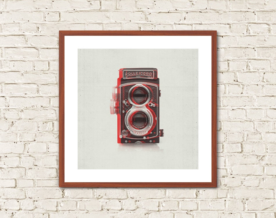 Vintage camera minimalist wall art vintage camera print for Minimalist wall decor